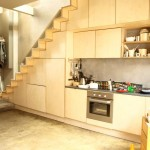 Plywood Kitchen and Stairs